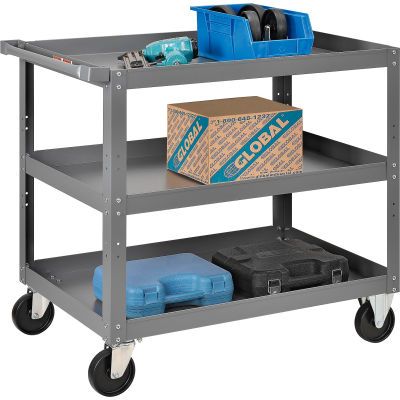 "Global Industrial™ Steel Stock Cart, 3 Shelves, 24""Wx36""L, 800 Lbs. Cap."
