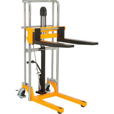 "Global Industrial™ Manual Lift Stacker, 47"" Lift, 880 Lb. Capacity"