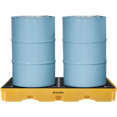 Global Industrial™ 2 Drum Spill Containment Modular Platform
