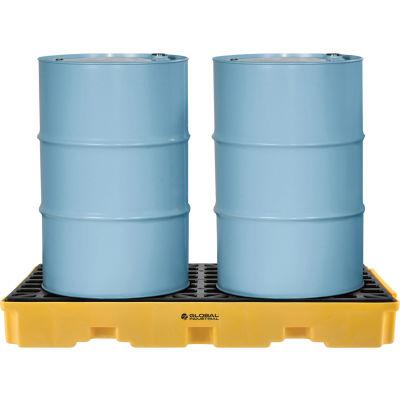 Plateforme deconfinement des déversementsGlobal Industrial™ pour2 baril