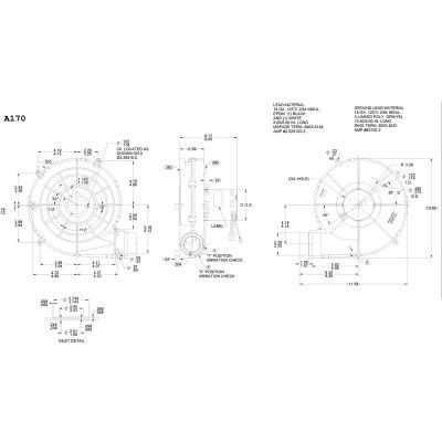 "Fasco 3,3"" Shaded Pole projet inducteur souffleur, A170, 115 Volts 2800 tr/min"