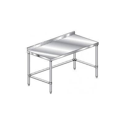 """Aero Manufacturing 2TSSX-36120 14 Gauge Workbench 304 Stainless Steel - 2-3/4"""" Backsplash 120 x 36"""