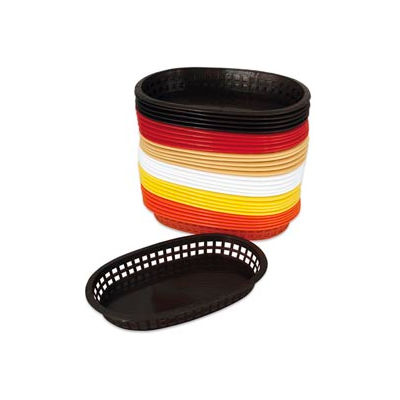 Alegacy 499FT - Flexible Oval Fast Food Basket, White, 1 Dozen