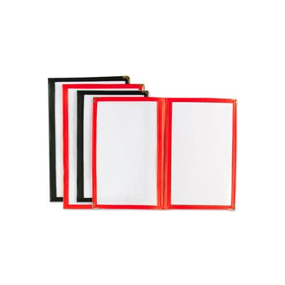"""Alegacy 712R - Double Menu Cover, 7-1/2"""" x 11"""" Red"""