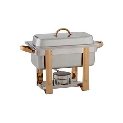 """Alegacy AL324GA - The Original Six In One Chafer with Gold Trim 1/3""""x2"""" and 1 Pan size 1/3""""x4"""""""