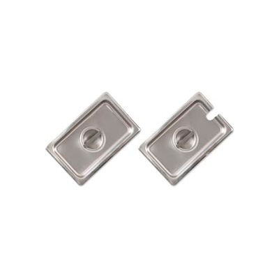 Alegacy CP8122NC - Half Size Notched Cover For Steam Table Pan, 24 Ga. - Pkg Qty 12