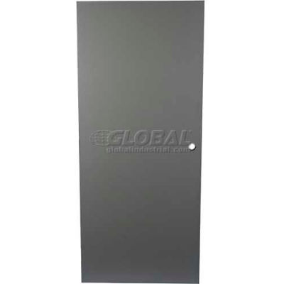 "CECO Hollow Steel Security Door, Flush, Cylindrical Prep, Curries Hinge, 18 Ga, 30""W X 80""H"