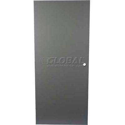 "CECO Hollow Steel Security Door, Flush, Cylindrical Prep, Curries Hinge, 16 Ga, 32""W X 80""H"