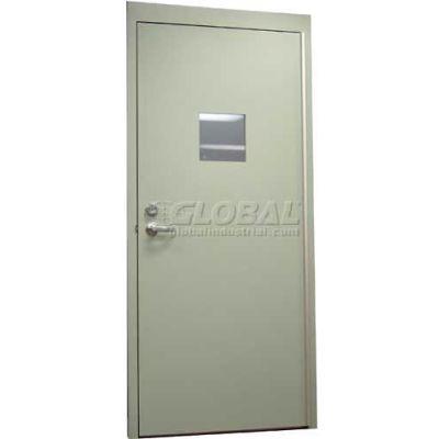 "CECO Hollow Steel Security Door, Vision Light, Mortise Prep, Curries Hinge, 18 Ga, 48""W X 84""H"