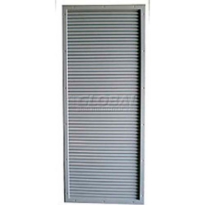 """CECO Door Louver Kit, Galvannealed Steel, Fire Rated, 12""""W X 18""""H"""