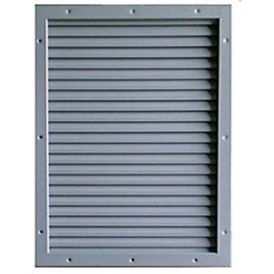 """CECO Door Louver Kit, Galvannealed Steel, Fire Rated, 24""""W X 24""""H"""