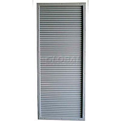 "CECO Door Louver Kit, Galvannealed Steel, 8""W X 24""H"