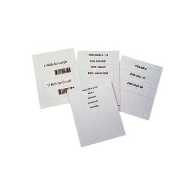 """Laser Insert Sheets, Letter - Pref. 2"""" x 4"""" for T-Slot TS-24 (500 pcs/pkg)"""