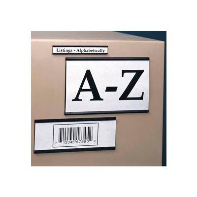 "Magnetic ""C"" Channel Label Holder, 1"" x 2"" (25 pcs/pkg)"
