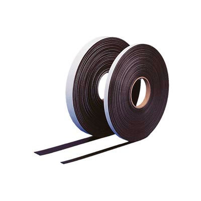 "Self Adhesive Magnetic Strip, 100 ft x 1/2"" H Roll"