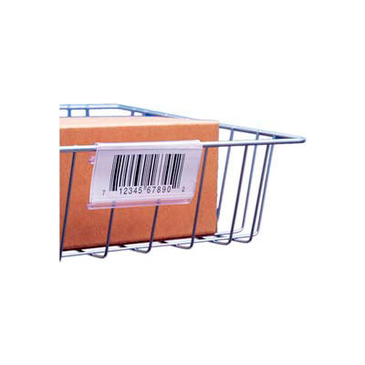 """Label Holder, Wire Basket/Display, Clear 6"""" (25 pcs/pkg)"""