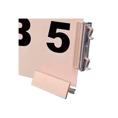 """Slip N Stik, Warehouse Aisle Sign Kit 8-1/2"""" x 11"""", Snap-On, White (10 pcs/pkg)"""