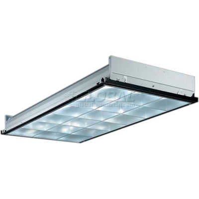 Lithonia 2PM3N G B 3 32 18LD MV 1/3 GEB10IS Troffer parabolique 2 x 4 w / lampe grille 2