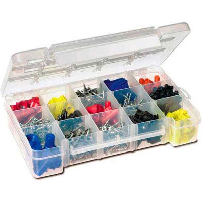 Akro-Mils Small Clear Dividable Storage Case  05705, 8-5/8x5-1/8x1-5/8 - Pkg Qty 12