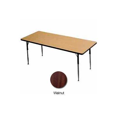 "Activity Table - Rectangle - 30"" X 48"", Juvenile Adj. Height, Walnut"