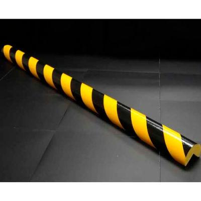 """90-degré angle Bumper Guard, tapez A +, 39-3/8"""" L x 2-7/16"""" W, jaune/noir"""