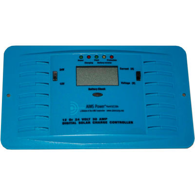 AIMS Power 30 Amp PWM Solar Charge Controller, SCC30A