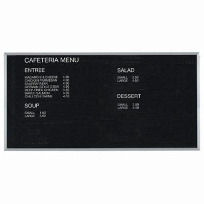 "Aarco Aluminum Framed Letter Board Message Center - 96""W x 48""H"
