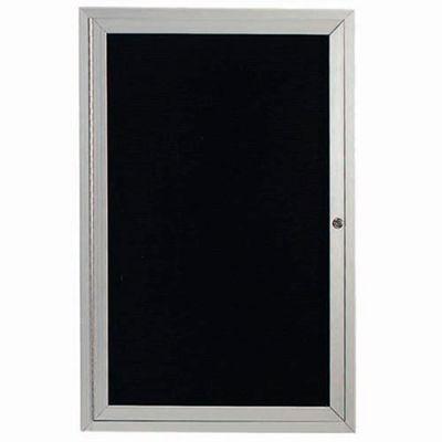 "Aarco 1 Door Enclosed Letter Board Cabinet - 18""W x 24""H"