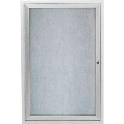 "Aarco 1 Door Aluminum Framed Enclosed Bulletin Board - 18""W x 24""H"