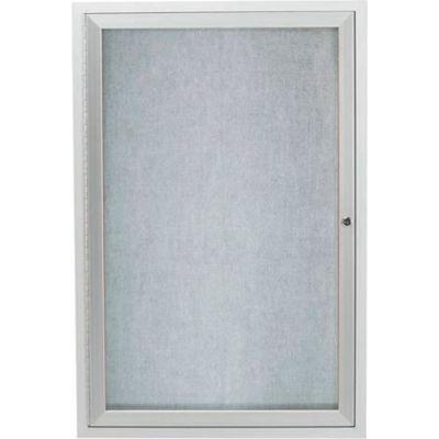"Aarco 1 Door Aluminum Framed Enclosed Bulletin Board - 24""W x 36""H"