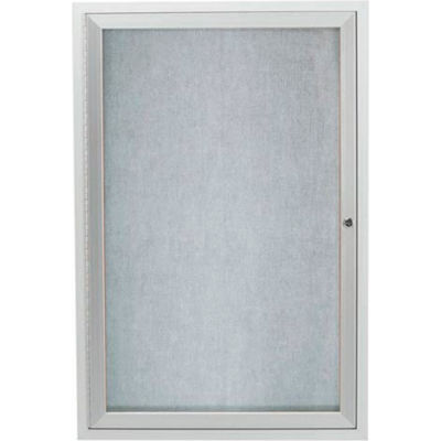 "Aarco 1 Door Alum Framed Illum Enclosed Bulletin Board - 36""W x 48""H"