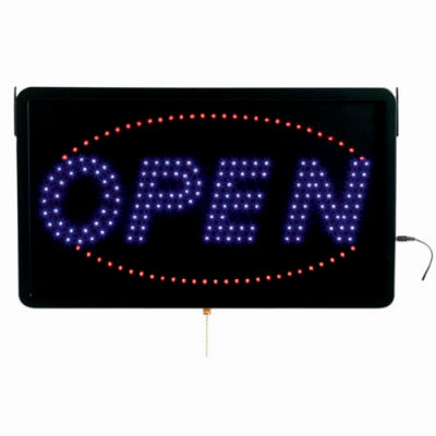 "Aarco Large LED Sign Open - 22""W x 13""H"