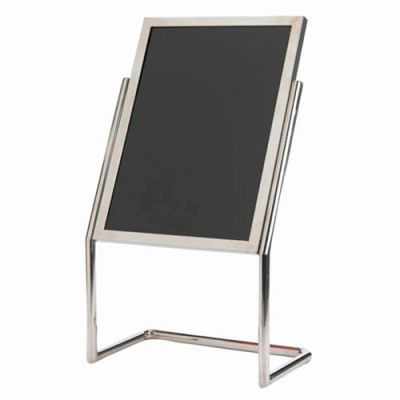 """Aarco Dual Capability Neon Marker Board And Menu/Poster Holder Chrome - 22""""W x 30""""H"""