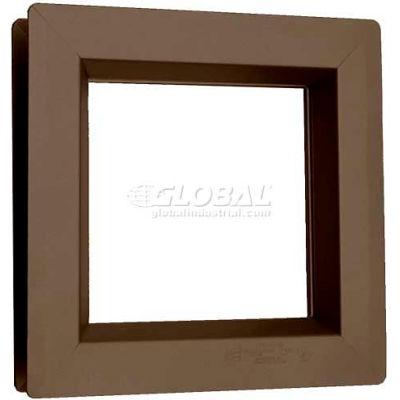 "Steel Low Profile Beveled Slimline Vision Lite VSL0624B, 6"" X 24"", Bronze"