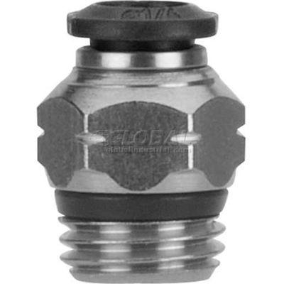 "AIGNEP Straight Male 50020N-12-3/8, 12mm Tube x 3/8"" BSPP Thread - Pkg Qty 3"