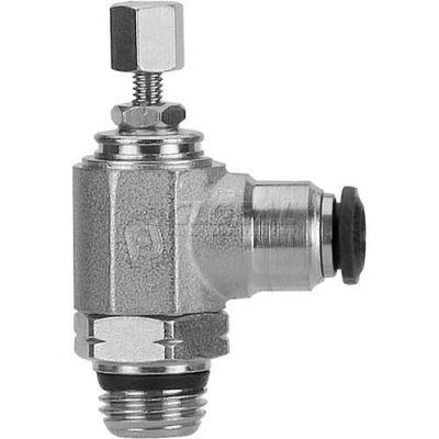 "AIGNEP Flow Control 50905N-4-1/8, Knob Adj, Flow Out, 4mm, 1/8"" Swift-Fit Universal Thread - Pkg Qty 2"
