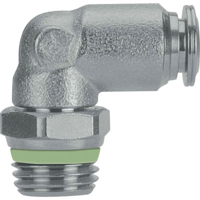 """AIGNEP Swivel Male Elbow, 60110-12-3/8, 12mm Tube x 3/8"""" BSPT Thread, Stainless Steel"""
