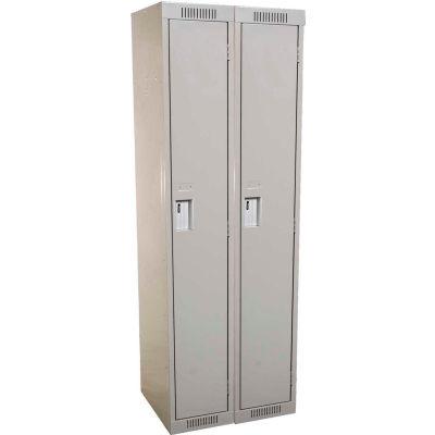 Clean-Line Assembled 1-Tier Lockers - 2 Lockers Wide