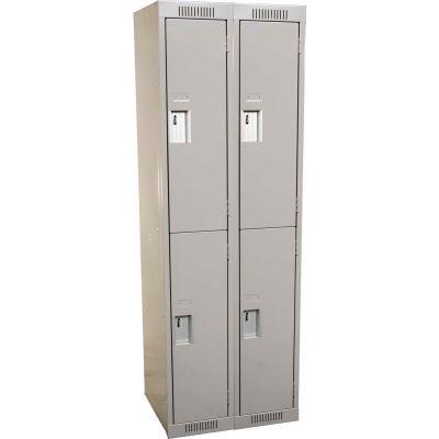 Clean-Line Assembled 2-Tier Lockers - 2 Lockers Wide
