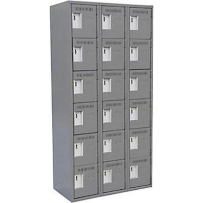 Clean-Line Assembled 6-Tier Lockers - 3 Lockers Wide