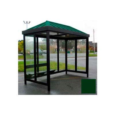 4-face avant droite ouverte 6' x 12' classique toit vert de toit Heavy Duty Bus fumeur abri Hip