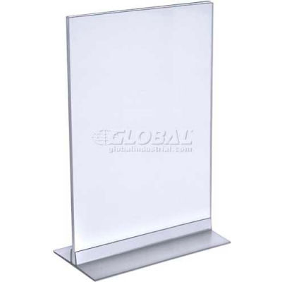 "Azar Displays 102706 Vertical/Horizontal Acrylic T-Stripe Sign Holder, 8.5"" x 14"""