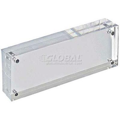 "Azar Displays 104431 Acrylic Vertical/Horizontal Block Frame, 3"" x 8"" ,1 Piece"