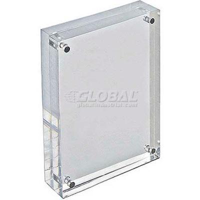 "Azar Displays 104433 Acrylic Vertical/Horizontal Block Frame, 4"" x 6"" ,1 Piece"