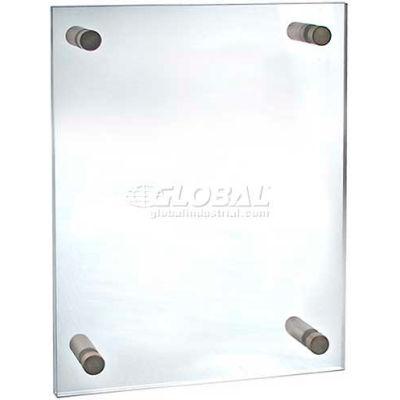 "Azar Displays 105512 Acrylic Standoff Sign Holder W/ Caps, 9"" x 12"" ,1 Piece"