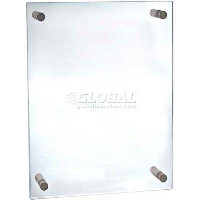 "Azar Displays 105528 Acrylic Standoff Sign Holder W/ Caps, 17"" x 22"" ,1 Piece"