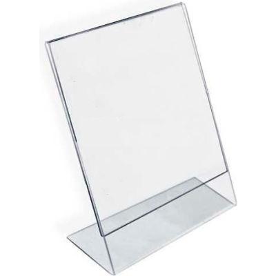 "Azar Displays 112714 Vertical Slanted L-Shaped Acrylic Sign Holder, 8.5"" x 11"""