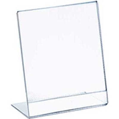 "Azar Displays 112731, Vert L Shaped Acrylic Sign HLR, 3.5""W x 5""H"