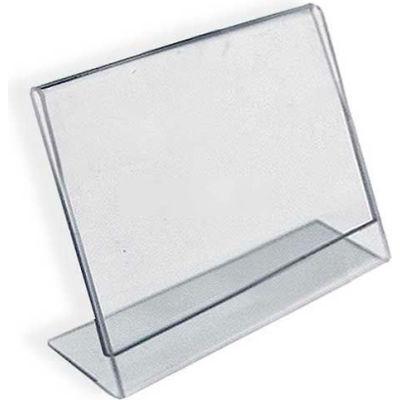 "Azar Displays 112740 Horizontal Slanted L-Shaped Acrylic Sign Holder, 3.5"" x 2.5"""