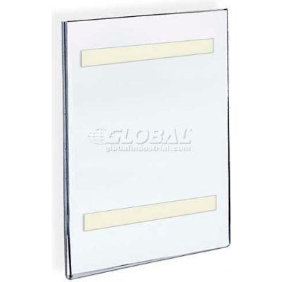 "Azar Displays 122013 Horizontal Wall Mount Sign Holder W/ Adhesive Tape, 8.5"" x 14"""